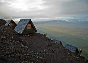 Nyiragongo summit Cabin